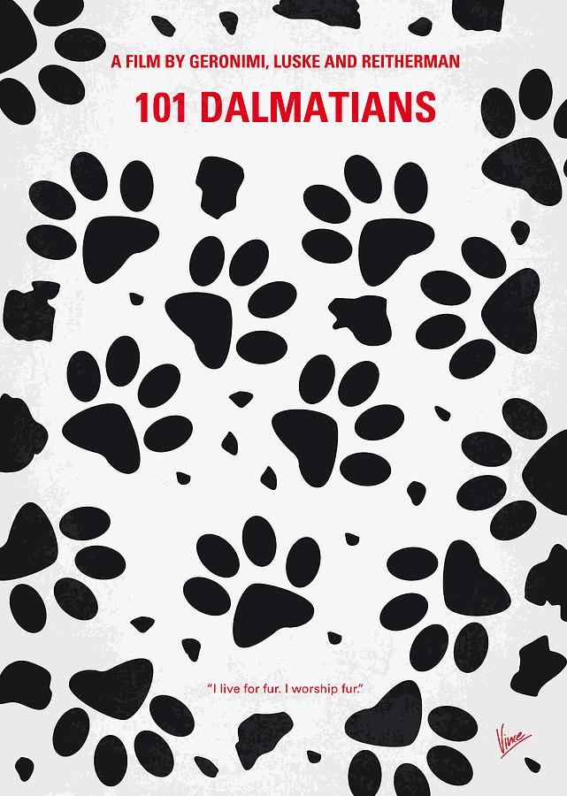 No229 My 101 Dalmatians Minimal Movie Poster Digital Art