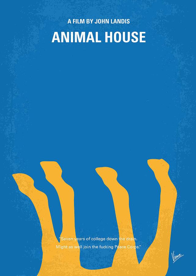 No230 My Animal House Minimal Movie Poster Digital Art