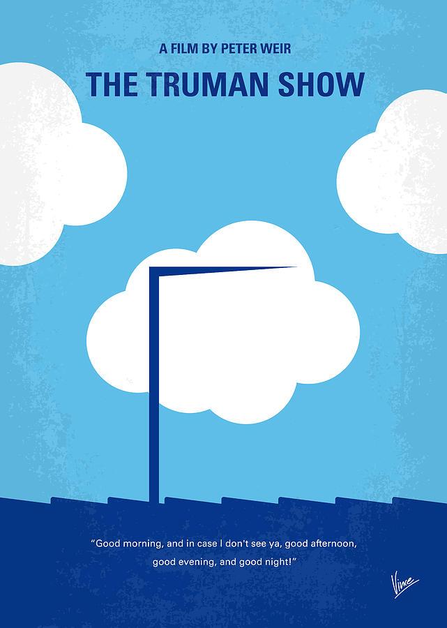 No234 My Truman Show Minimal Movie Poster Digital Art