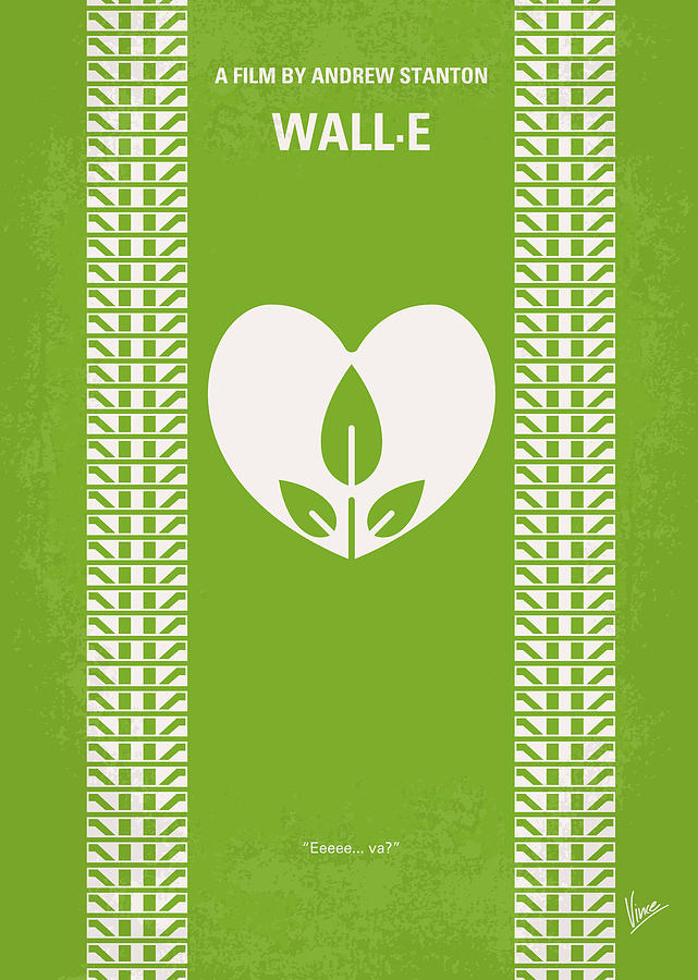 No235 My Wall-e Minimal Movie Poster Digital Art  - No235 My Wall-e Minimal Movie Poster Fine Art Print