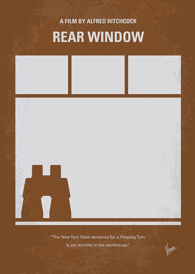 No238 My Rear Window Minimal Movie Poster Digital Art