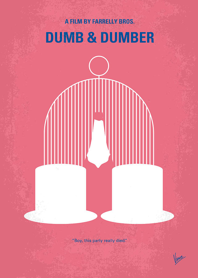 No241 My Dumb And Dumber Minimal Movie Poster Digital Art  - No241 My Dumb And Dumber Minimal Movie Poster Fine Art Print