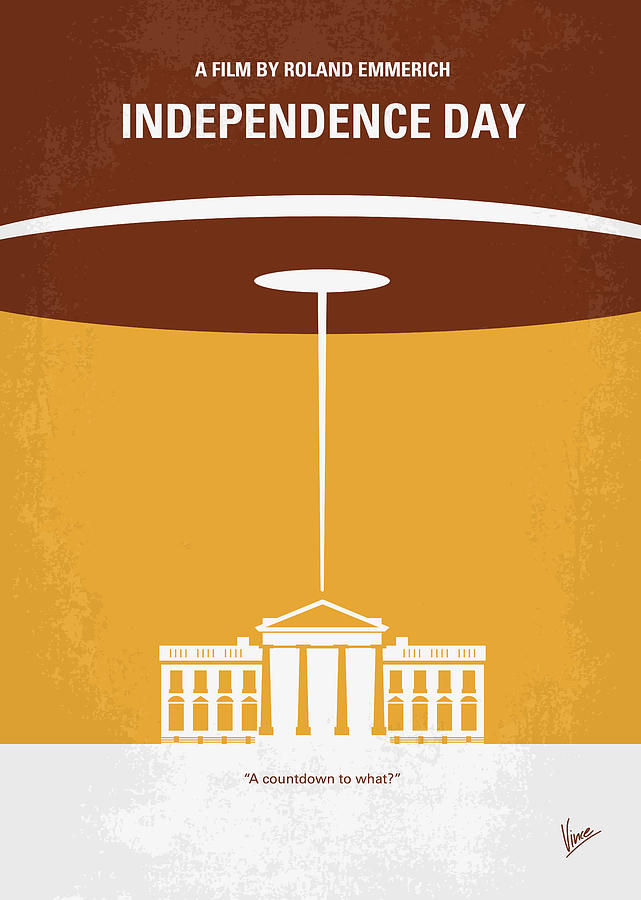 No249 My Independence Day Minimal Movie Poster Digital Art