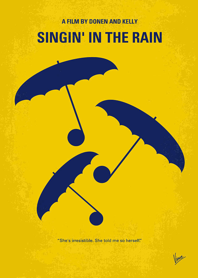 No254 My Singin In The Rain Minimal Movie Poster Digital Art
