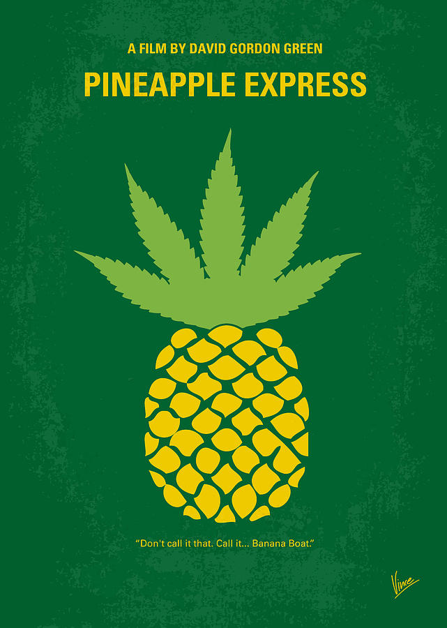 No264 My Pineapple Express Minimal Movie Poster Digital Art