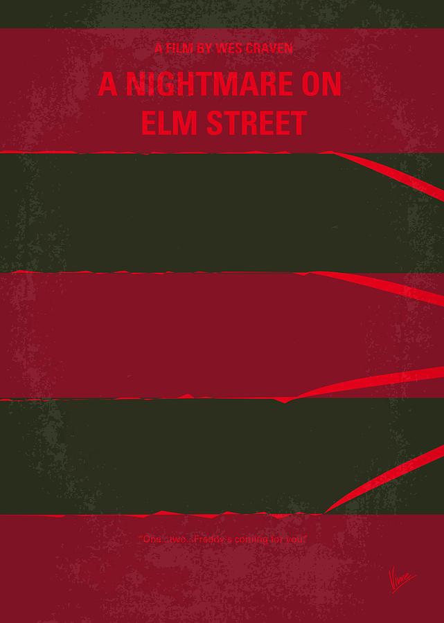 No265 My Nightmare On Elmstreet Minimal Movie Poster Digital Art