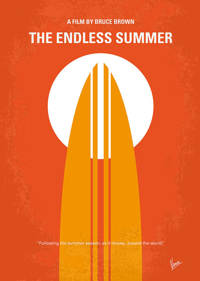 No274 My The Endless Summer Minimal Movie Poster Digital Art  - No274 My The Endless Summer Minimal Movie Poster Fine Art Print