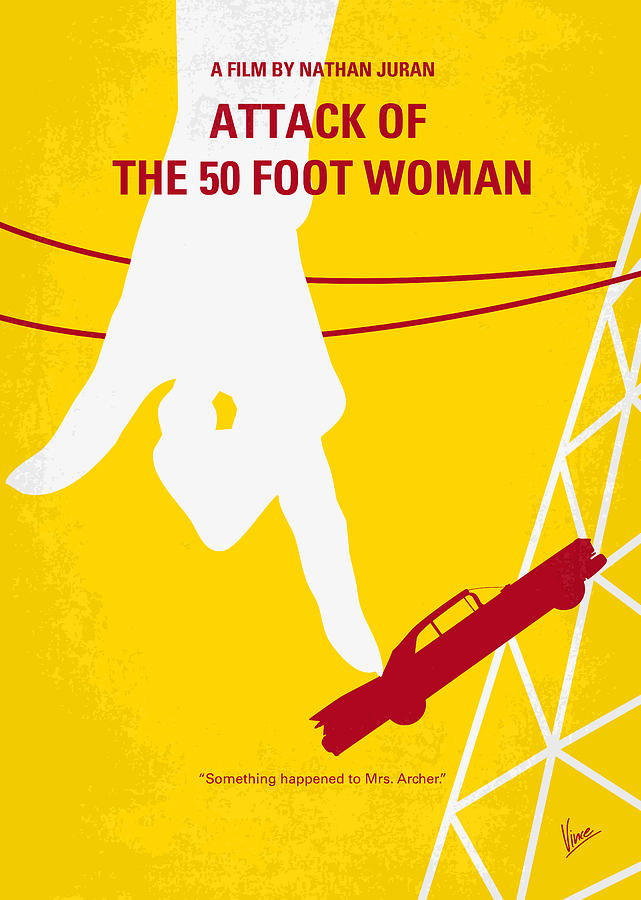 No276 My Attack Of The 50 Foot Woman Minimal Movie Poster Digital Art