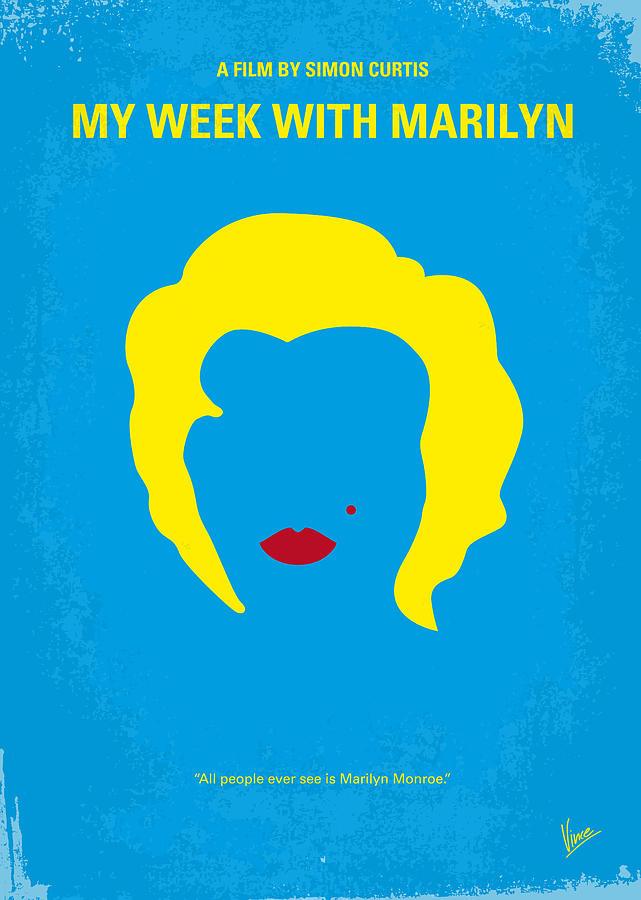 My Digital Art - No284 My Week With Marilyn Minimal Movie Poster by Chungkong Art