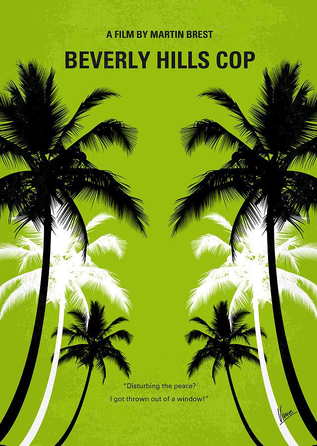No294 My Beverly Hills Cop Minimal Movie Poster Digital Art