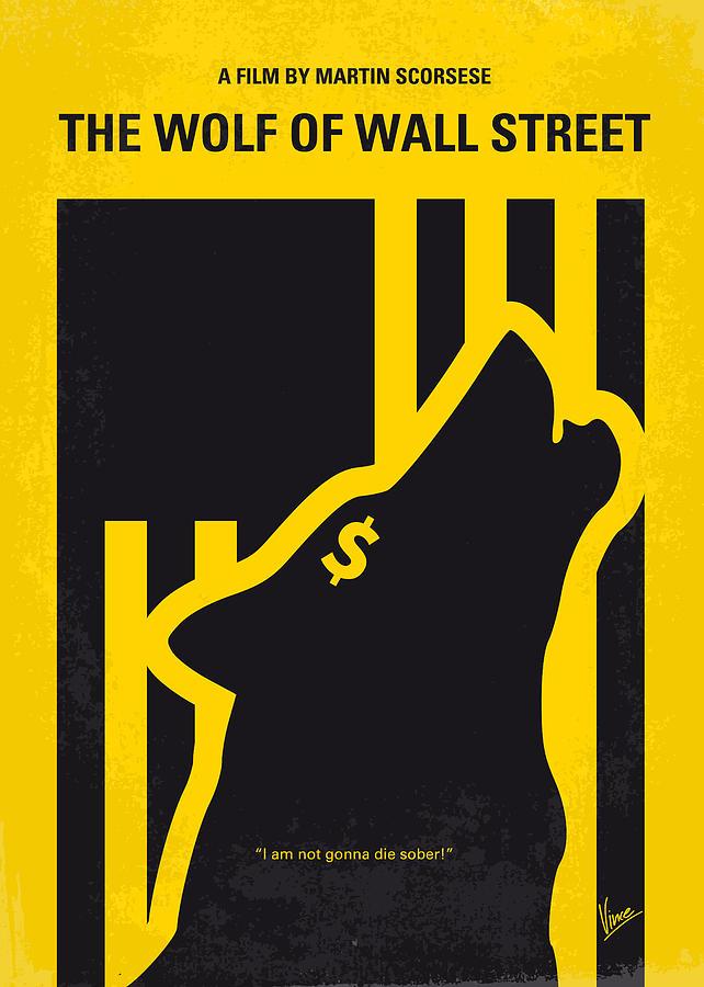 no338 my wolf of wallstreet minimal movie poster digital