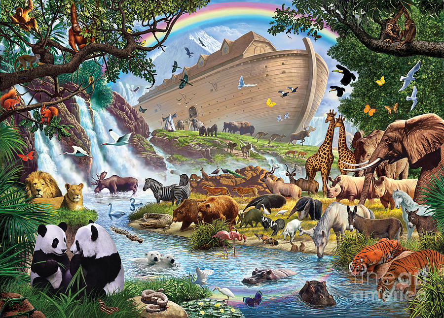 Noahs Ark Digital Art  - Noahs Ark Fine Art Print