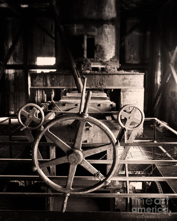Coal Plant Photograph - Nobody At The Wheel by Royce Howland