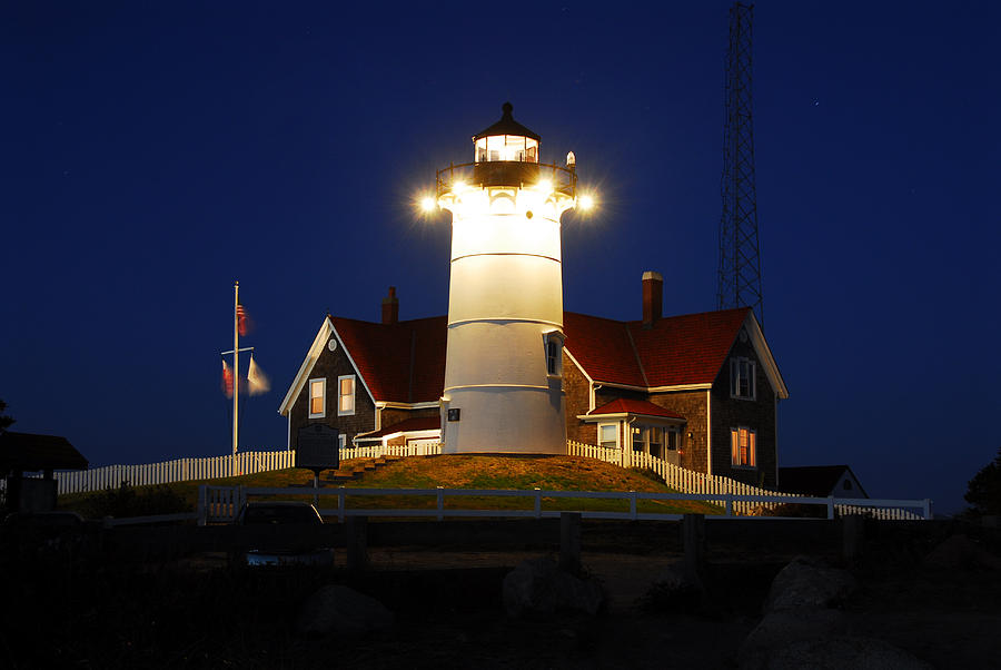 Lighthouse Photograph - Nobska Point Light by Dan Myers