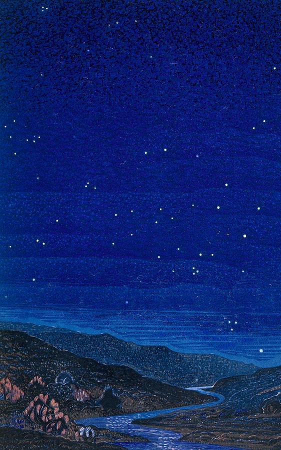 Nocturnal Landscape Painting - Nocturnal Landscape by Francois-Louis Schmied