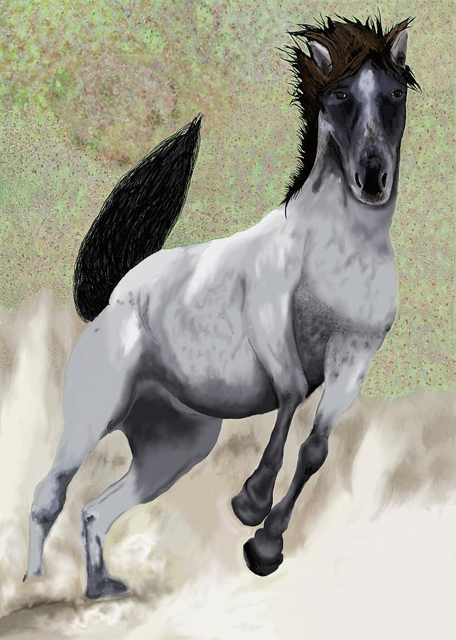 Nokota Bronco Painting