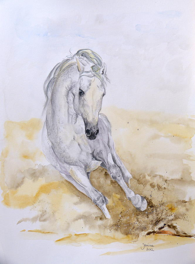 Horse Original Painting Painting - Norman by Janina  Suuronen