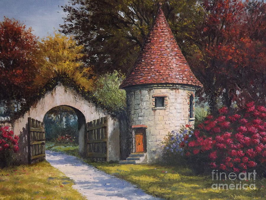 Normandy Garden Painting  - Normandy Garden Fine Art Print