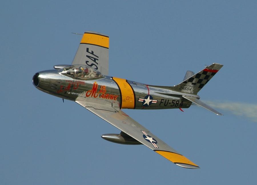 North American F 86 Sabre John Glenn Photograph