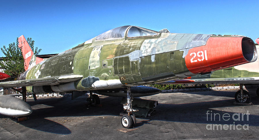 North American Super Sabre Qf-100d Photograph