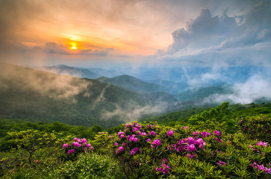 North Carolina Blue Ridge Parkway Spring Appalachian Mountains Nc Photograph