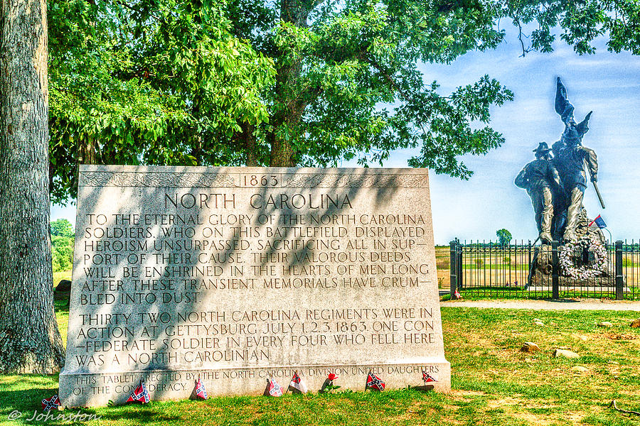 North Carolina Memorial Gettysburg Battleground Photograph  - North Carolina Memorial Gettysburg Battleground Fine Art Print