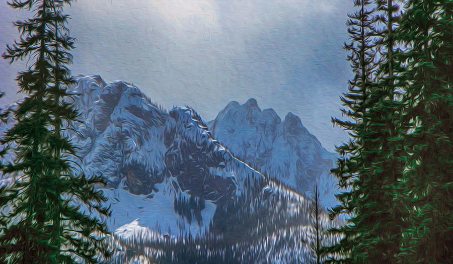North Cascades Inspiration Painting - North Cascades Inspiration by Omaste Witkowski