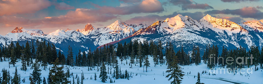 North Cascades Winter Panorama Photograph