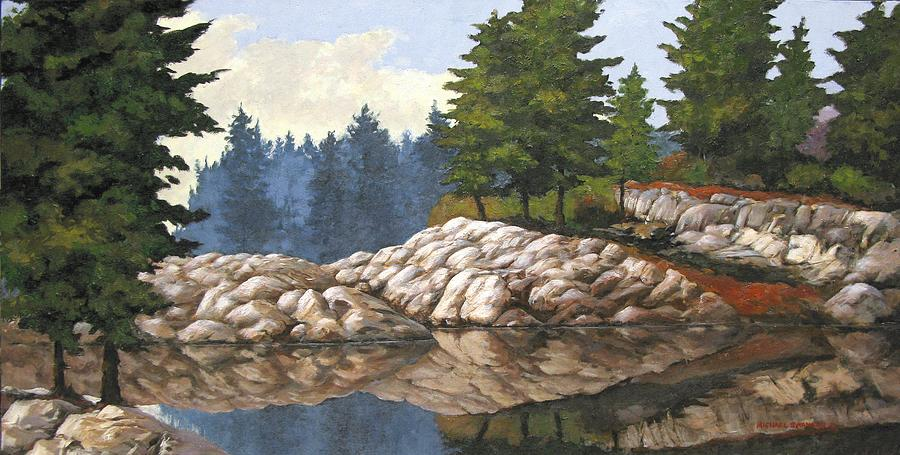 North Channel Reflections Painting  - North Channel Reflections Fine Art Print