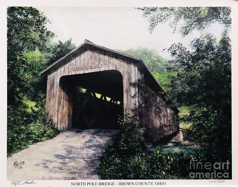 North Pole Covered Bridge Brown County Ohio Painting