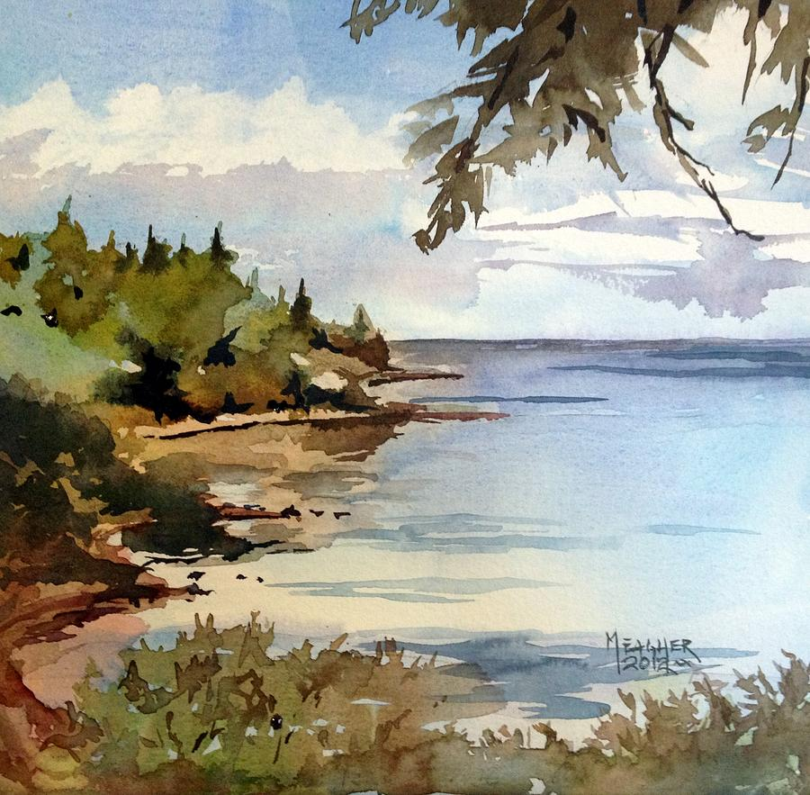 North Shore Lake Superior Painting  - North Shore Lake Superior Fine Art Print