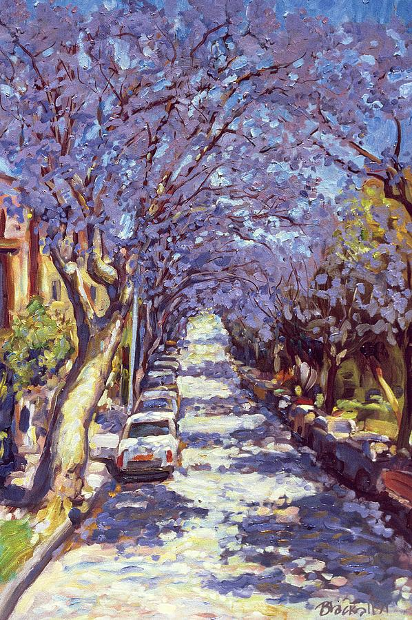 North Sydney Jacaranda Painting