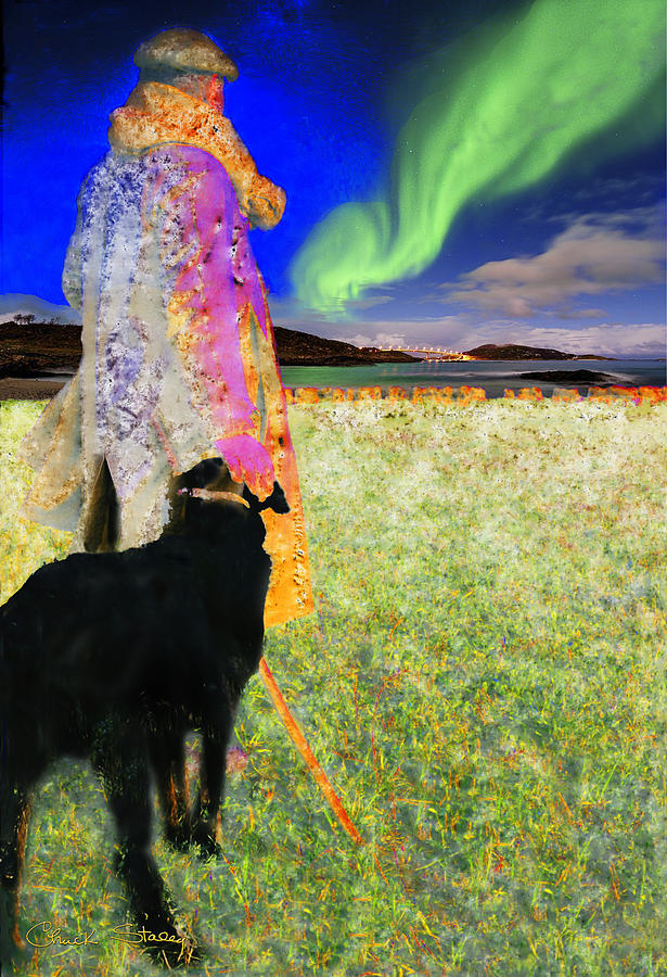 Northern Lights Mixed Media  - Northern Lights Fine Art Print