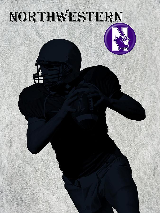 Northwestern Football Digital Art  - Northwestern Football Fine Art Print