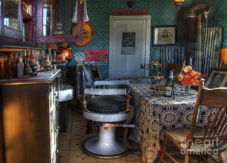 Barber Photograph - Nostalgia Barber Shop by Bob Christopher