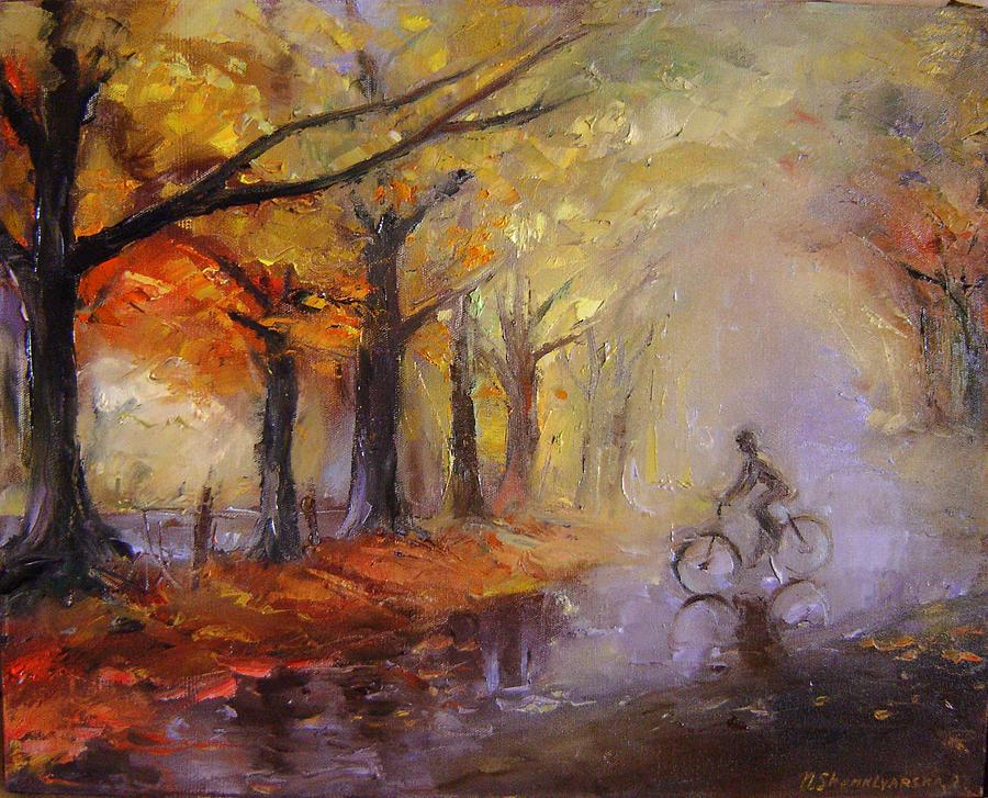 Art Painting - Nostalgia by Nelya Shenklyarska