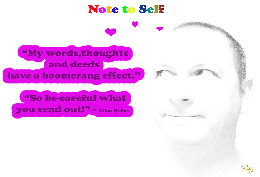 Note To Self Boomerang Effect Mixed Media