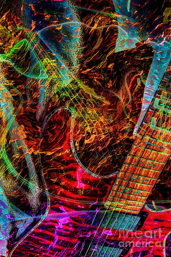 Notes On Fire Digital Guitar Art By Steven Langston Photograph