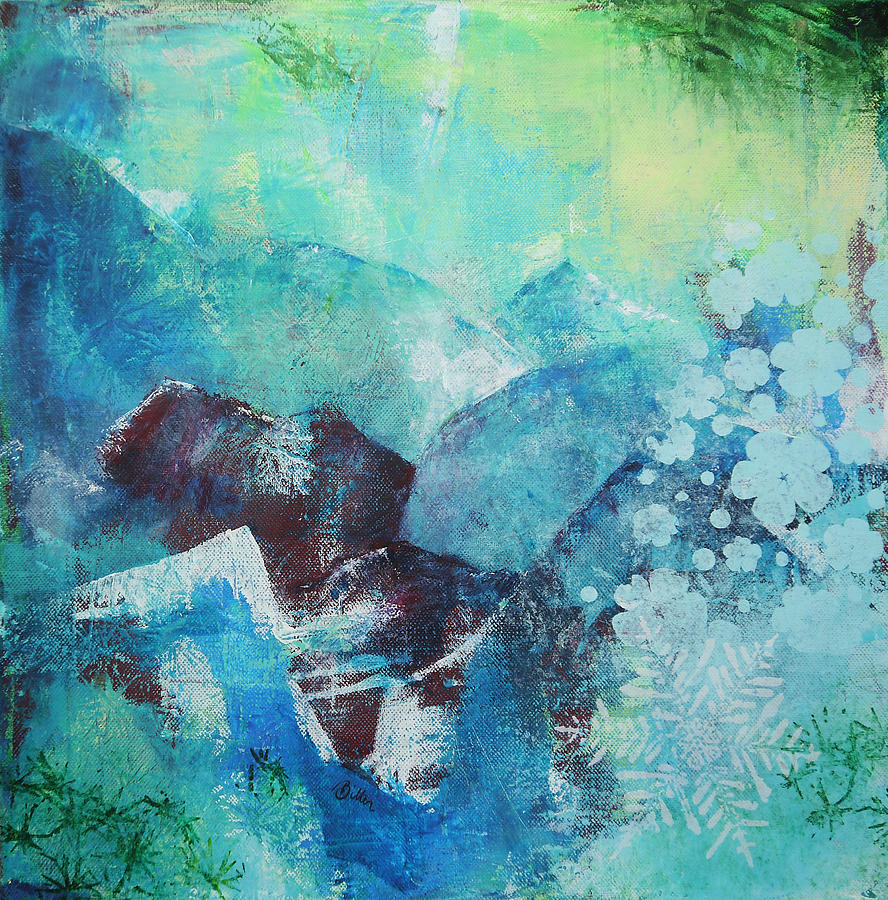 Mountains Painting - Nothern Light by Bitten Kari