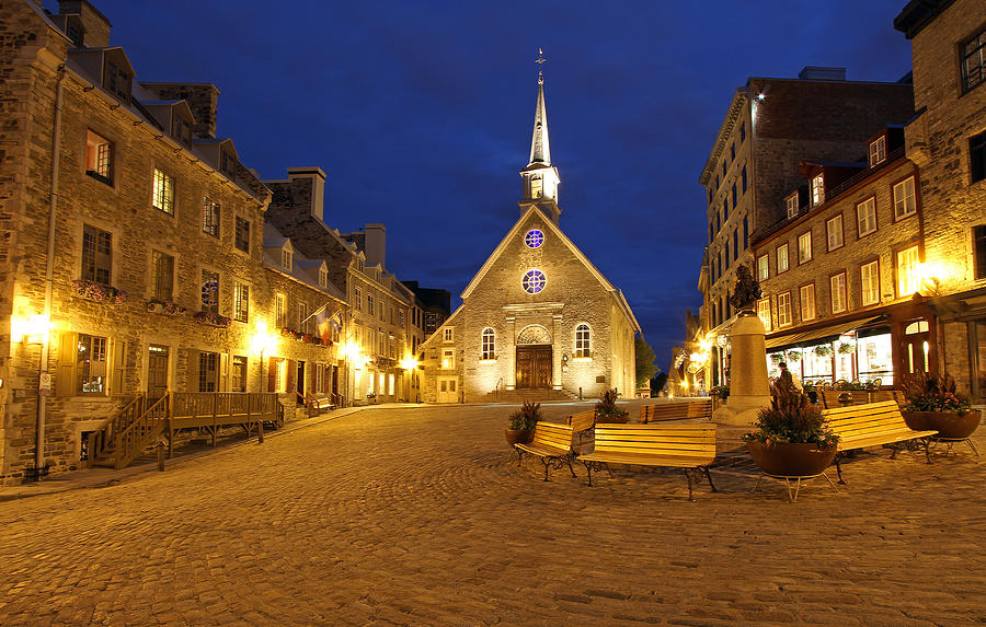 Notre Dame Des Victories And Place Royale Photograph