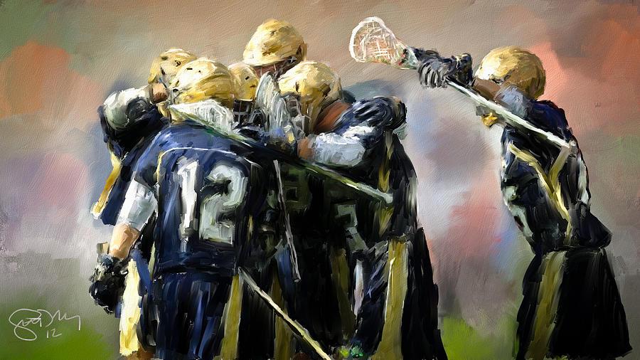 Notre Dame Lacrosse Celebration Painting