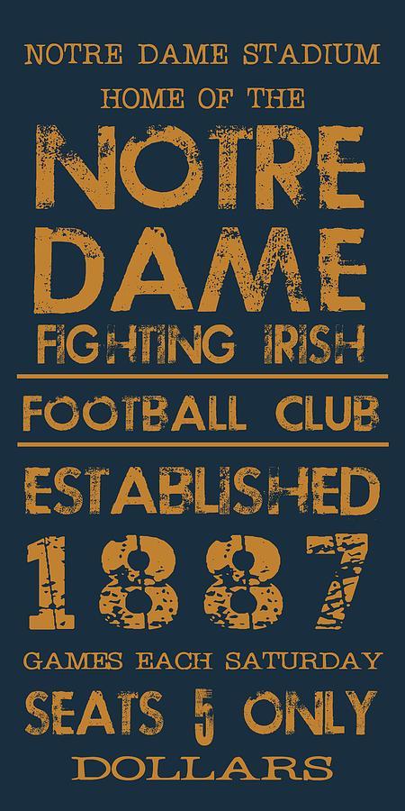Notre Dame Stadium Sign Digital Art