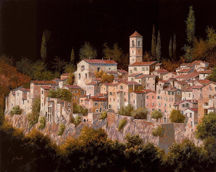 Tuscany.landscape Painting - Notte Senza Luna by Guido Borelli