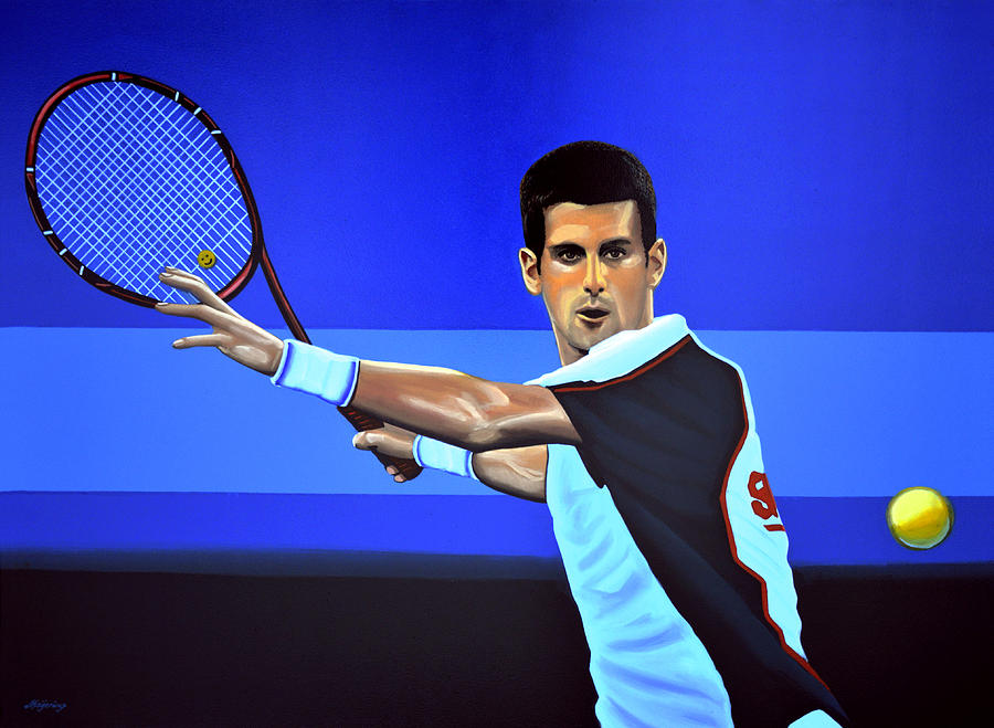 Novak Djokovic Painting  - Novak Djokovic Fine Art Print