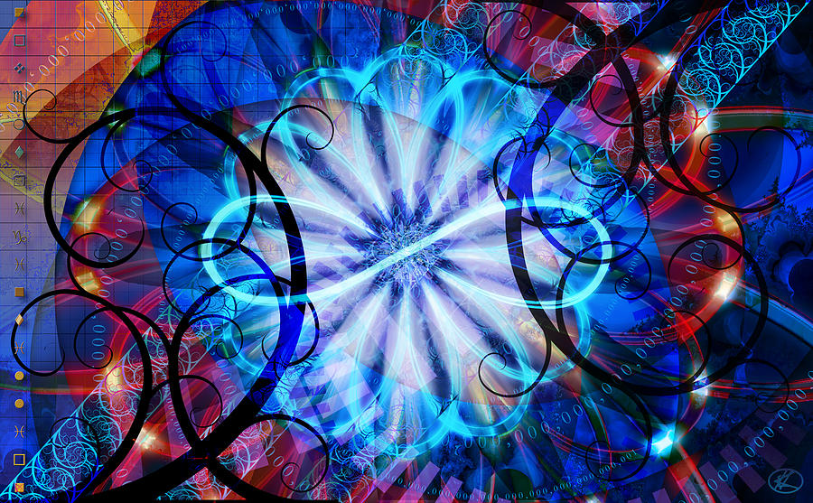 Flower Digital Art - Novem by Kenneth Armand Johnson