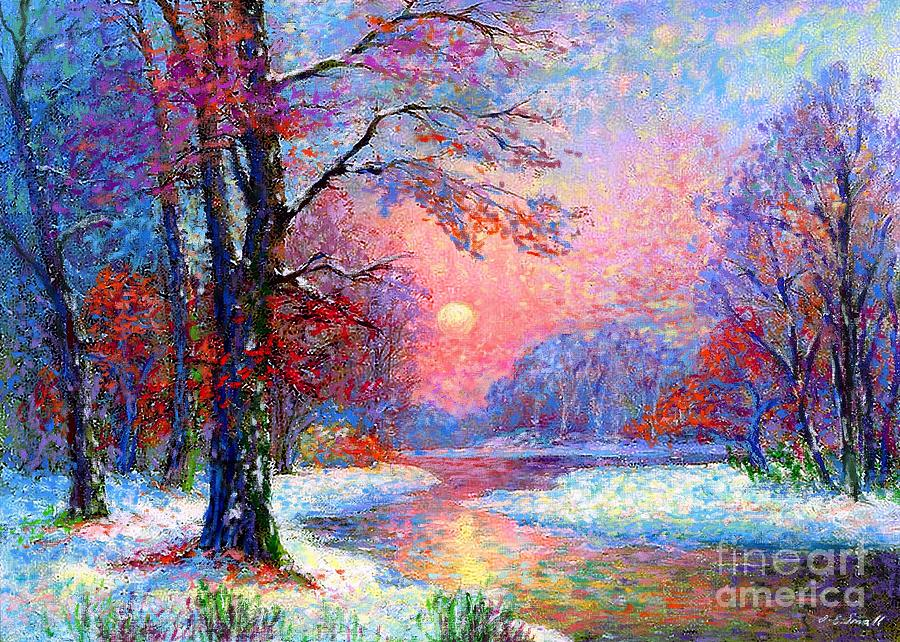 November Nightfall Painting  - November Nightfall Fine Art Print
