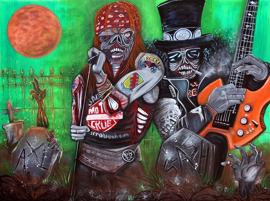 Zombie Painting - November Rain  by Laura Barbosa