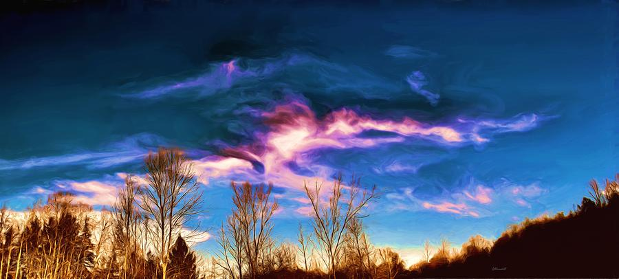 November Skies Painting  - November Skies Fine Art Print