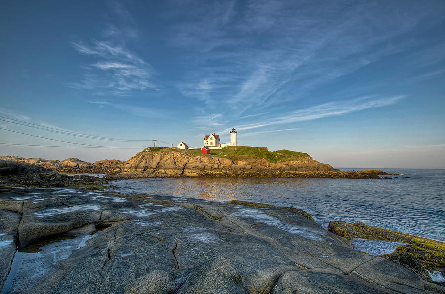 Nubble In Blue Photograph  - Nubble In Blue Fine Art Print