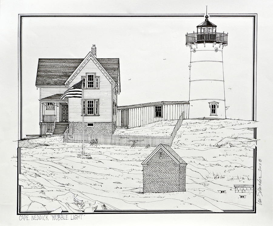 Nubble Light Drawing